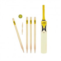 Woodworm Junior Cricket Set - Yellow Size 4