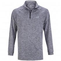 Woodworm Golf ¼ Zip Heather Pullover Sweater Grey