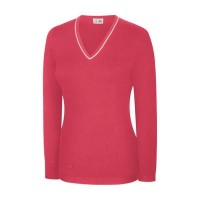 Ashworth Ladies V-Neck Cotton Sweater