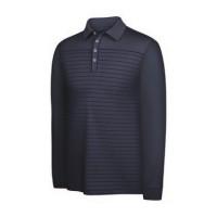 Adidas Mens ClimaLite Long Sleeve Stripe Polo