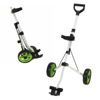 Young Gun Kids Adjustable Golf Trolley for Junior Golfers 3-14 Years Old White/Green