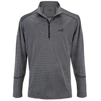 Woodworm Golf Heather Stitch Striped Pullover - Grey