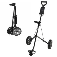 Caddymatic i-Trac 2 Wheel Folding Golf Trolley Black