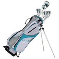 GolfGirl FWS3 Ladies Complete All Graphite Petitie Golf Clubs Set with Stand Bag Lefty