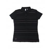 Ashworth Ladies Striped Polo Shirt
