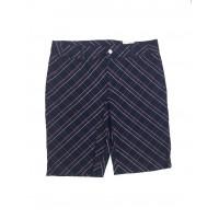 Ashworth Ladies Modern Navy Shorts with Pink Checks - Size 6